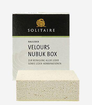 Solitaire shoecare Verlours Nubuk Box