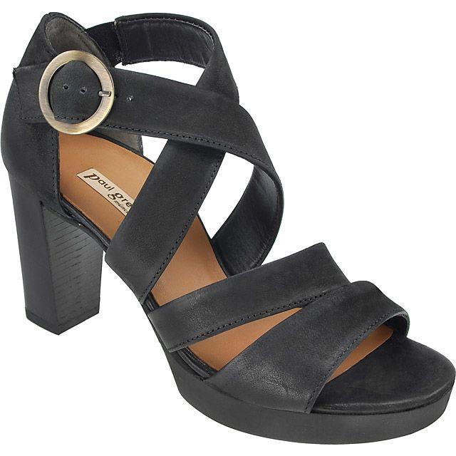 110c5600f87b55 Sandalette in Schwarz - 6657-064 im Paul Green Online-Shop kaufen