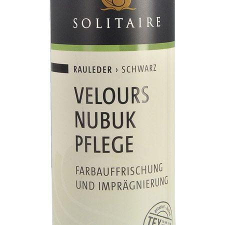Solitaire Velours Nubuk Spray - Schwarz - bottomview