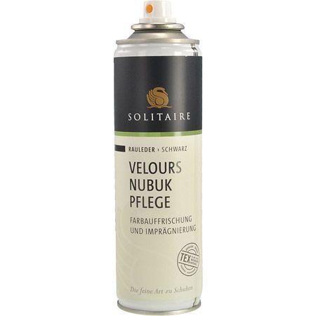 Solitaire Velours Nubuk Spray - Schwarz - upperview