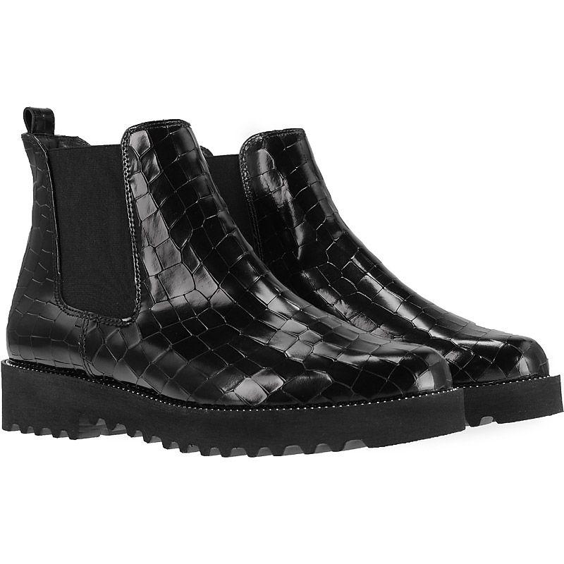 ausdrucksstarke chelsea boots in schwarz 9159 011 im paul green online shop kaufen. Black Bedroom Furniture Sets. Home Design Ideas