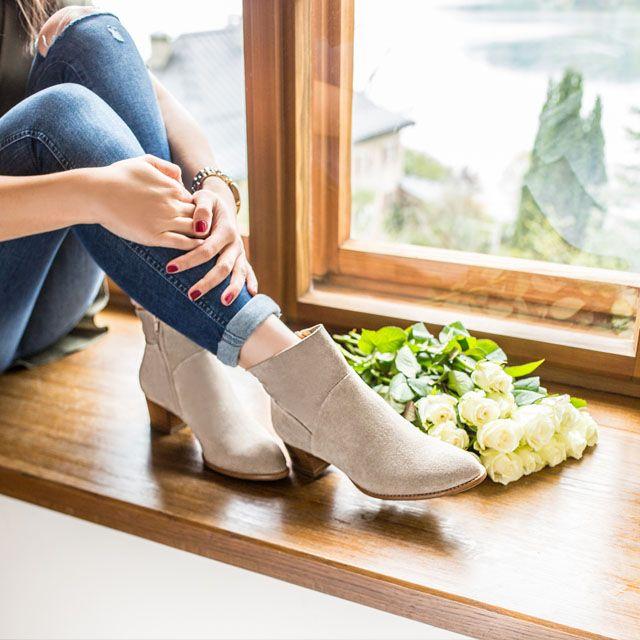 stiefelette in beige 8847 059 im paul green online shop kaufen. Black Bedroom Furniture Sets. Home Design Ideas